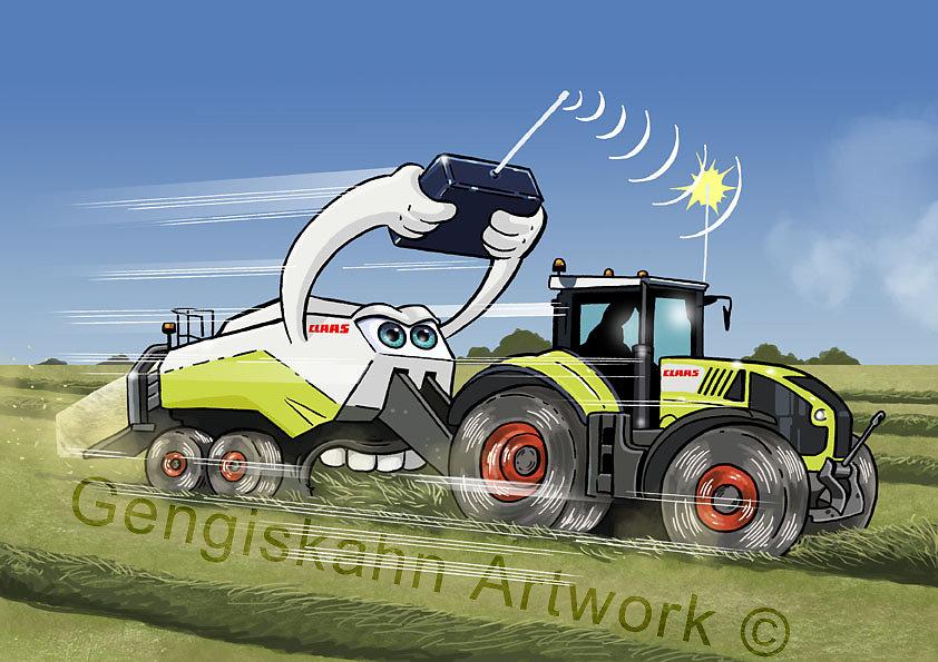 illustration pour Agence de communication à destination de la société CLAAS